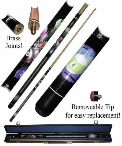 9 Ball Galaxy 2 Piece Pool Stick with Case Billiard Cue 58 Inches