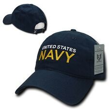 Blue United States US Navy Military Low Crown Polo Style Baseball Ball Cap Hat