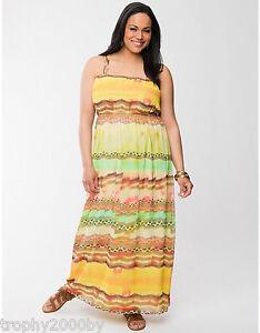NEW LANE BRYANT PLUS SIZE WESTERN STRIPE MAXI DRESS SZ 22/24 | eBay