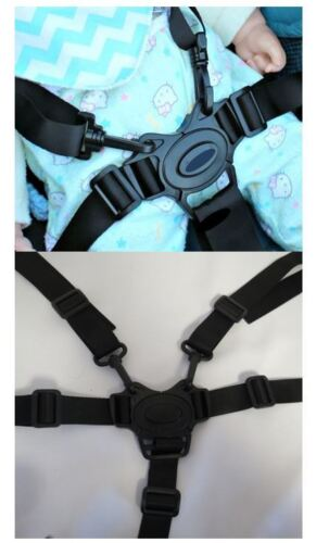 5 Point Harness Buckle w Straps Replacement for Joovy Groove Baby Strollers New