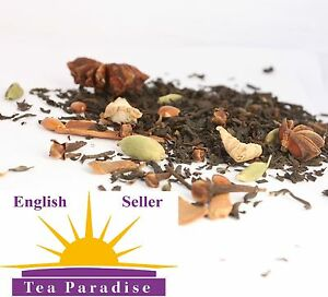 MASALA CHAI - BLACK LOOSE LEAF TEA BLEND, 100% NATURAL NO FLAVOURING INDIAN TEA