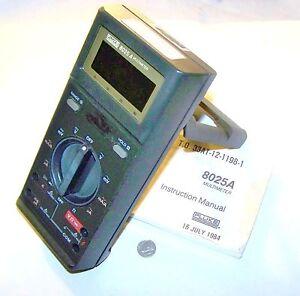 Details about FLUKE 8025A FE6044 USED DIGITAL MULTIMETER W/ MANUAL NO CASE  OR TEST LEADS