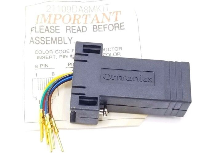 New Kit of 2 Connectors Ortronics OR-211025DA8MKIT Adapter DB25M to RJ45