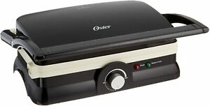 Oster-Titanium-Infused-DuraCeramic-2-in-1-Panini-Maker-and-Grill-Black