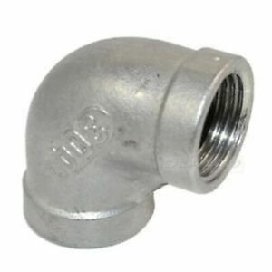 90-Degree-Elbow-BSP-Pipe-Fitting-Stainless-Steel-316-A4-Grade-150lb-1-8-034-To-4-034