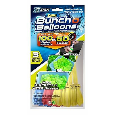 Zuru Bunch O Balloons Pack of 100, Self-tying Water Bombs, Summer Outdoor Party