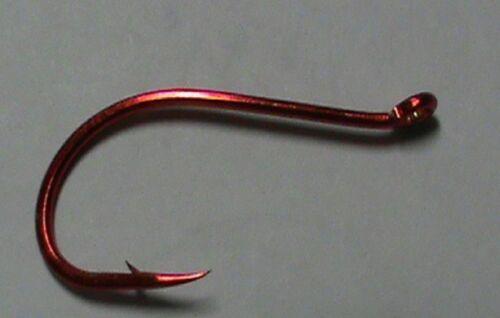 """100 /""""taille 2//0/"""" Sans Ardillon-Pft RED OCTOPUS BEAK Hook-Saumon Et Truite Arc-en-ciel"""