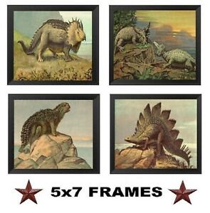 5x7-Dinosaur-Pictures-Boys-Room-Wall-Hangings-Decor-Dinosaurs-Easy-to-Hang
