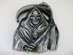 nouveaux produits pour fabrication habile se connecter Détails sur Belt Buckle Grim Reaper Mint, Boucle de Ceinture La Faucheuse.  Neuve, skull