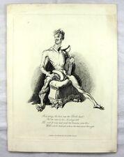 Landseer Etching - 'And prey Sir, how was the Devil drest - Devil's Walk 1831
