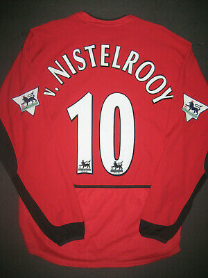 pretty nice 020aa ce820 2002-2003 Nike Manchester United Ruud van Nistelrooy Long ...