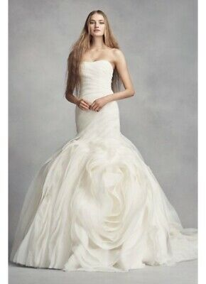 White By Vera Wang Wedding Dress Ebay