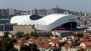 Plaque métal   stade vélodrome Marseille   30 X 20 CM