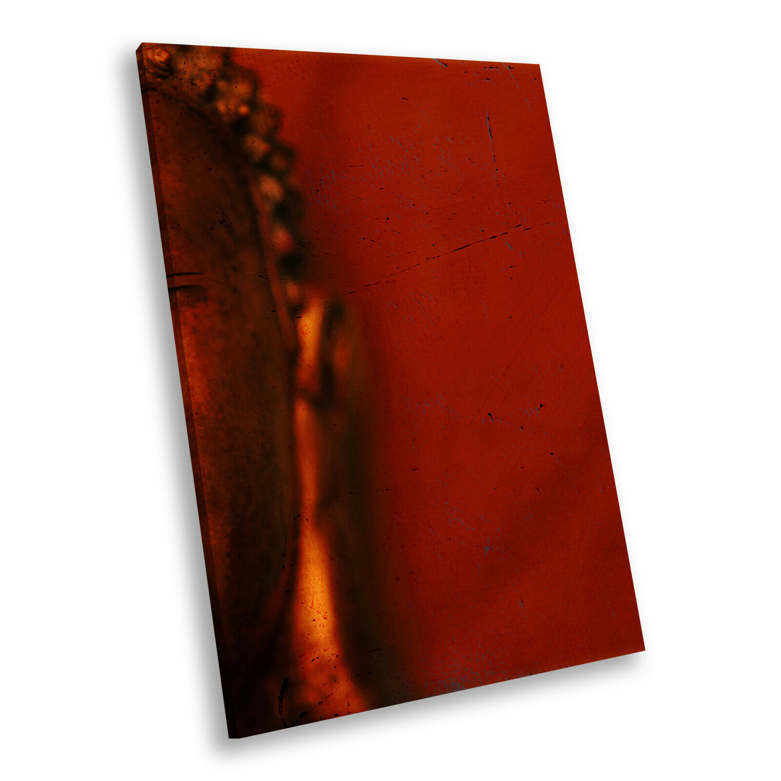 rot Orange Buddha Portrait Abstract Canvas Wall Art Large Picture Prints