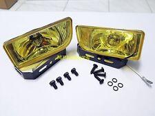"""FOG LIGHT SPOT LAMP DLAA SET H3 12V 55W YELLOW LENS 2"""" FOR UNIVERSAL CAR LH+RH"""