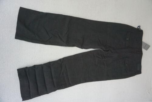 GARDEUR abîmée 5 Femmes Lin Pantalon Lin Turn Up 3//4 CAPRI taille 42 noir NEUF