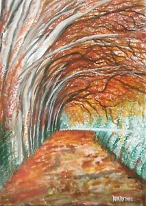 Autumn - Original Water Color Painting on HandMade Paper