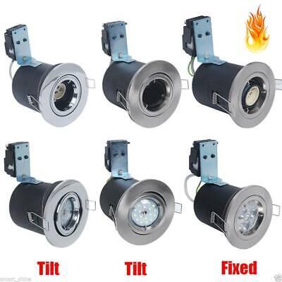 4x 10x GU10 240V Fire Rated IP65 Downlights Fixed//Tilt Light Spotlight Ceiling