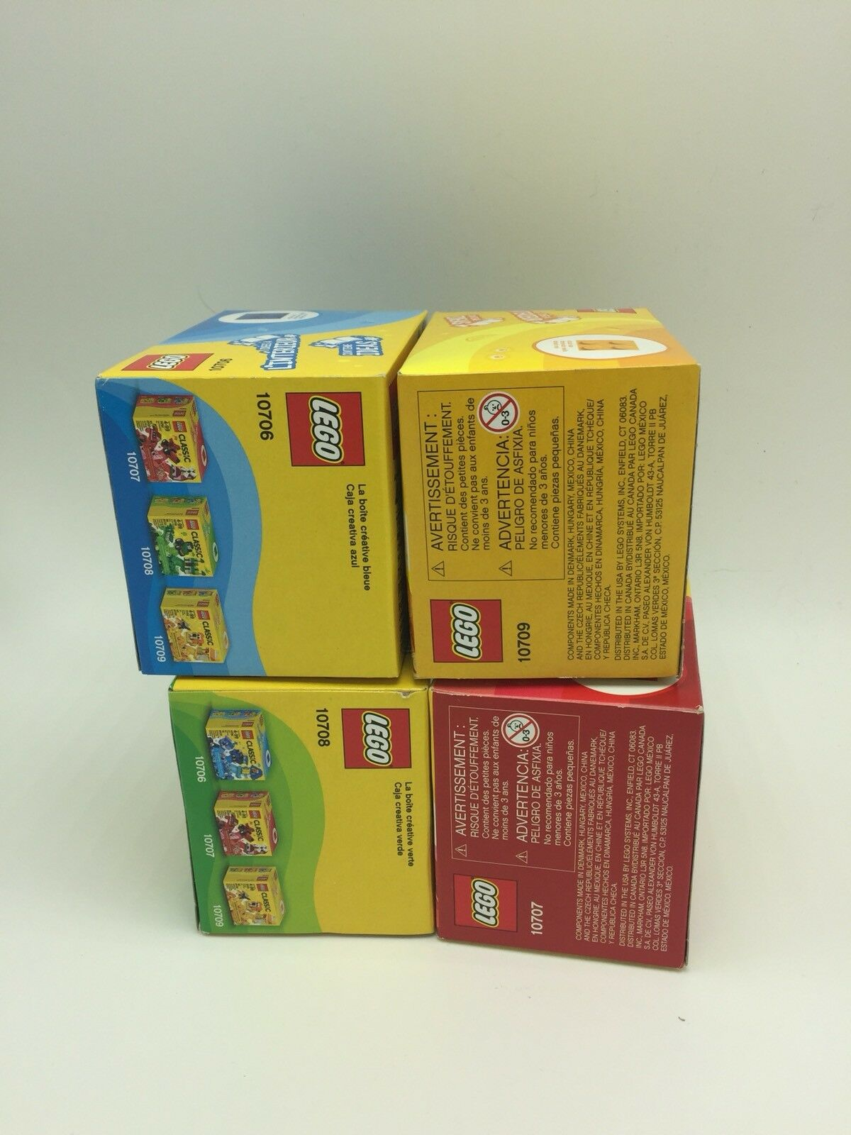 Lego Classic Red Green bluee Yellow NEW Creativity Boxes LOT LOT LOT 4 NIB 259 pieces bcb2e7