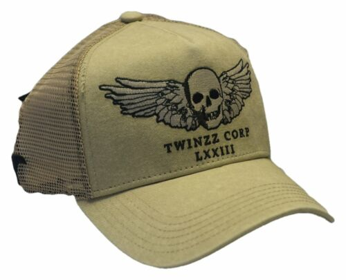 Twinzz Winged Skull Mesh Baseball Cap Sent Sameday* Twinzz