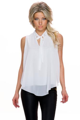 Crêpes bruns schluppentop Top Shirt High Low Ourlet S 34 36 chemisier Fête Club Bureau Femmes