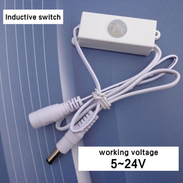 NEW DC5-24V Mini Auto PIR Motion Infrared LED Light Strip Sensor Detector Switch