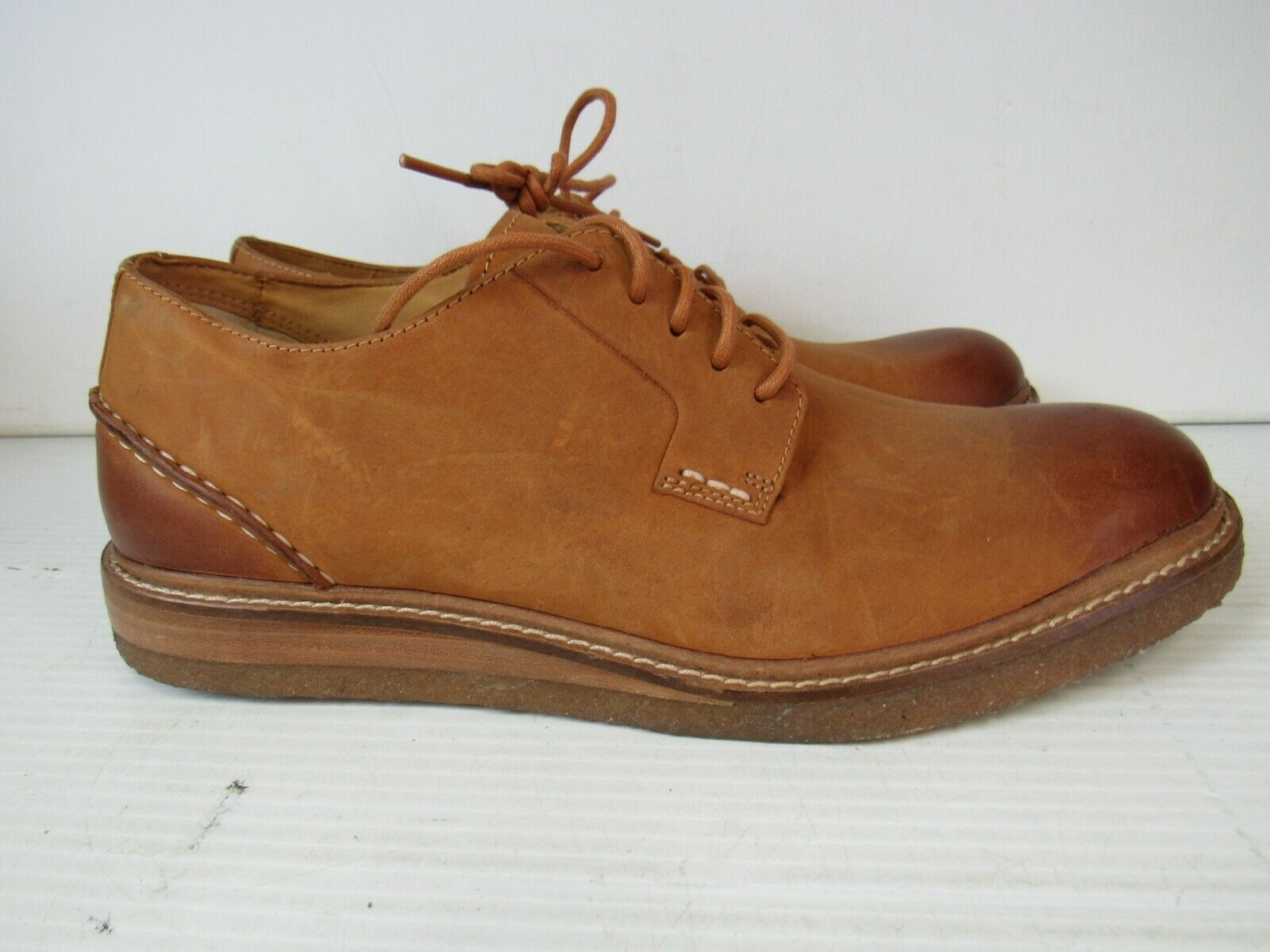 Para Hombre Sperry Top-Sider oro Cup Crepe Oxfords, STS16832 tamaño 9 tan M927