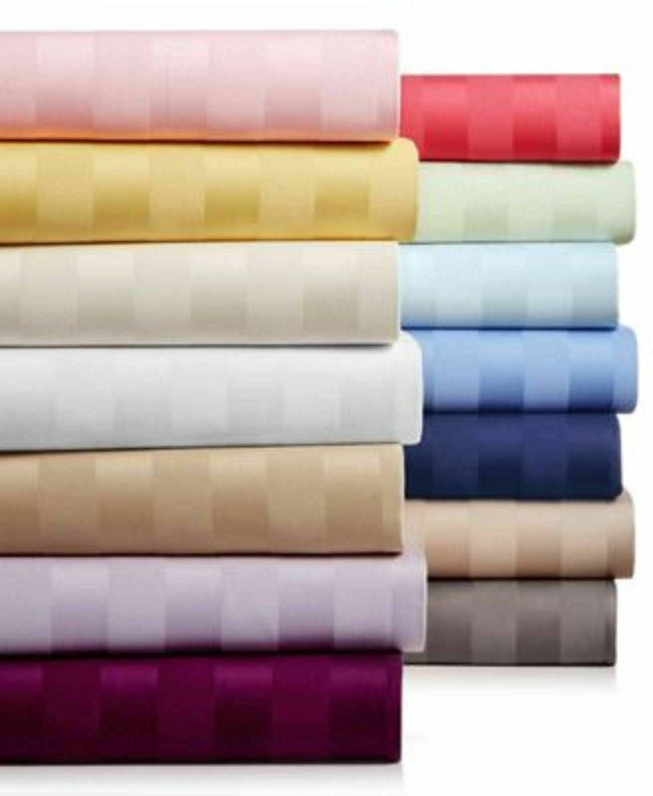 Adjustable 5 PCs Split Sheet Set Egyptian Cotton 1000 TC Cal King Striped colors