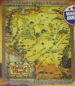 New The Hobbit Map Of Middle Earth Woven Throw Blanket Gift Rohan