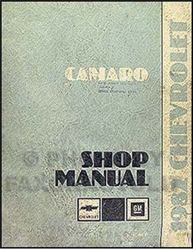 1982 Camaro Shop Manual 82 Chevy Z28 Z 28 Berlinetta Repair Service Original OEM