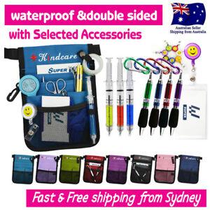 Nurses-Pouch-Waist-Bag-Extra-Pocket-QUICK-PICK-BAG-Syringe-Keyring-Pen-ID-Holder