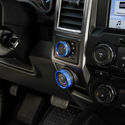 6pcs for Ford F150 XLT Air Conditioner Trailer 4WD Audio Switch Knob Ring Cover