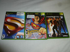 XBOX GAME LOT OF 3 GAMES FANTASTIC 4 SUPERMAN RETURNS THE MAN OF STEEL COMPLETE