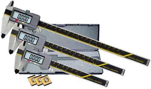 "Carrera Precision 6/"" 8/"" 12/"" Electronic Digital Caliper Micrometer Set CP6812"