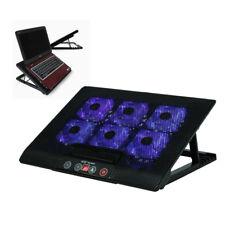 """UK 6 Fans Laptop Cooler Mat Stand Tilt For 7/""""-17/"""" Inch Natebook Cooling Pad Hot"""