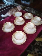 Vintage Noritake Tea Cup and Saucer set of 6 with one extra plate.