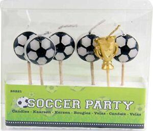 Fußball Mini Kerzen Set Ball Pokal EM WM Fußballparty