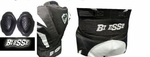 KombiLeder Cordura schwarz weiß Einteiler von Motorradkombi in allen//Größen-CE