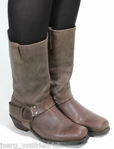 Bikerstiefel-Motorradstiefel-Texas-Chopper-Farmer-Boots-Bottes-Botas-37-5-38