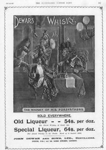 1897-Antique-ADVERTISING-Print-John-Dewars-Whisky-Distillers-Liqueur-54