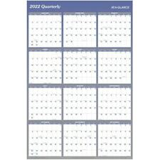 At A Glance Erasable Yearly Wall Calendar 48 X 32 Blue 2022 Wall