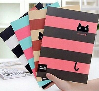 FD1025 Student Diary Note Book Happy Cat Stationery Large Notepad  ~Random~ 1pc
