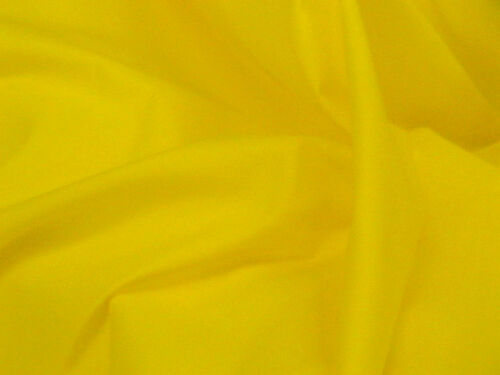 FREE Postage and Packaging. Polycotton dress fabric-Canary