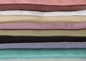 Lightweight-Ramie-Linen-Fabric-45-034-Wide-By-The-Yard-Clothing-Garment-Home-Decor