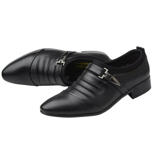 Men/'s Leather Shoes Formal Pointed Toe Oxfords Casual Dress Wedding Party Prom