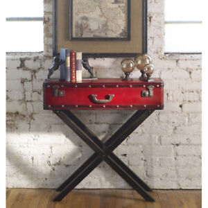 Fantastic Details About Red Suitcase Trunk Design Storage Console Table Download Free Architecture Designs Scobabritishbridgeorg