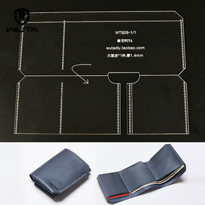 Image Is Loading WUTA Leather Trifold Wallet Acrylic Template Craft