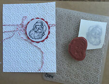Stampin Up retired SANTA clear Stamp & New Snowflakes Embossing folder