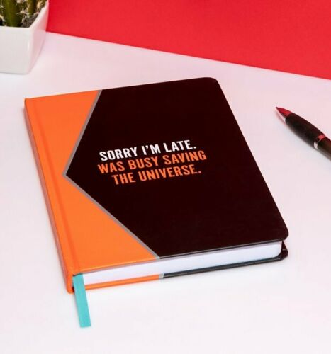 Official Marvel Black Widow Sorry I/'m Late Notebook