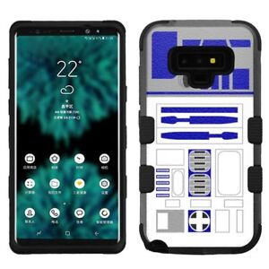 online retailer 4f018 c071d Details about for Samsung Galaxy Note 9, Hard+Rubber Rugged Cover Case Star  Wars R2D2
